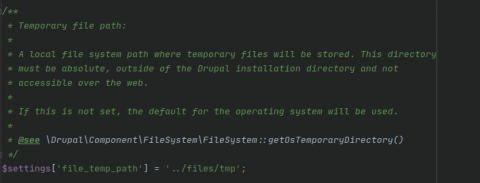 Configuration dossier tmp
